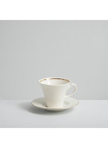 Chakra Perla  Gold 6 Kısılık Kahve Takımı Beyaz